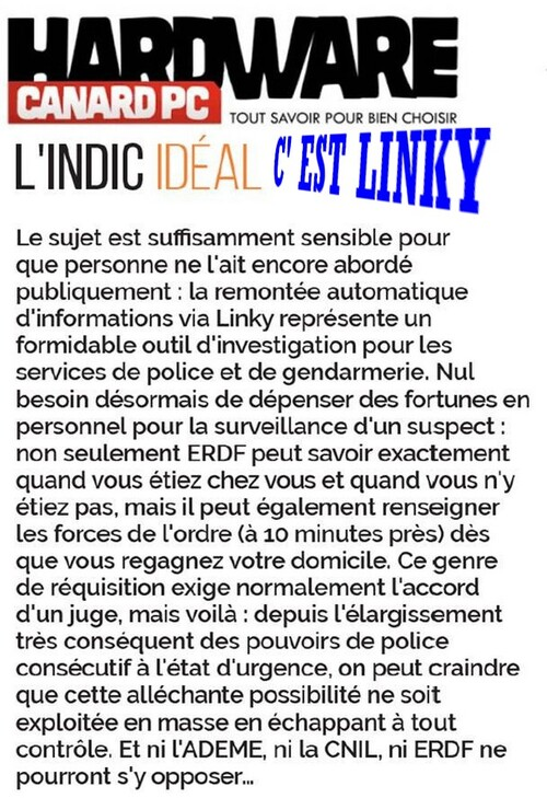 Les affiches anti -Linky