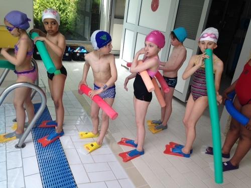 Nos séances de piscine.