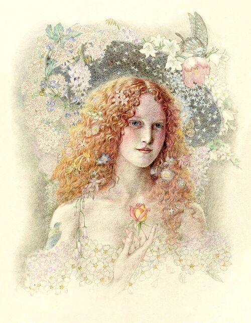 La fontaine de Jacqueline aux cheveux d'or,