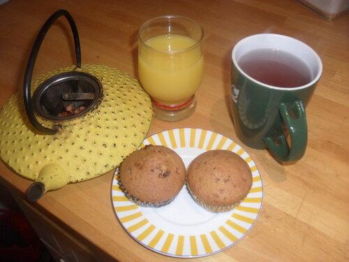 Muffin tout simple au chocolat