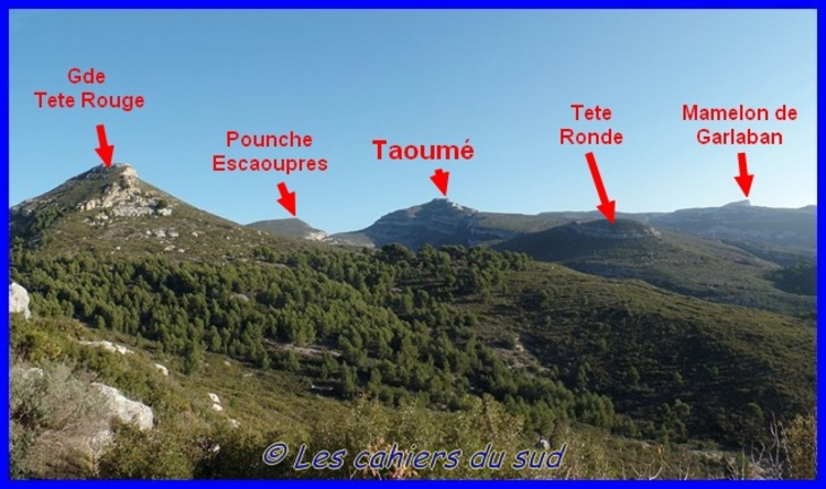 Massif de Garlaban, la Baume Sourne