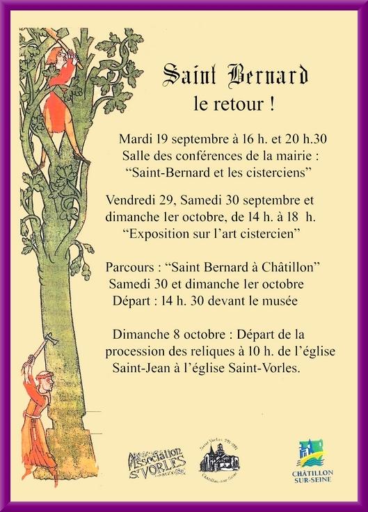 Saint Bernard revient à Châtillon sur Seine !