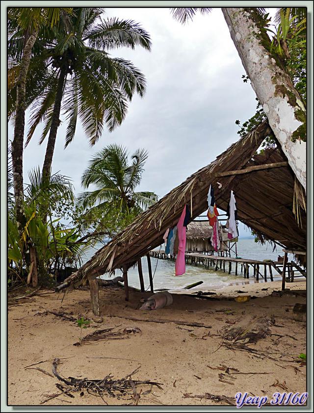 Blog de images-du-pays-des-ours : Images du Pays des Ours (et d'ailleurs ...), Case  d'amérindien Guaymie et son bâtiment annexe - Isla Bastimentos - Bocas Del Toro - Panama