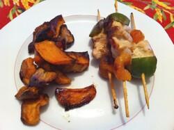 Recette de verrines, mini-brochettes et légumes rôtis pour Repas d'anniversaire!