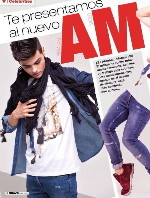Abraham explique ce nouveau changement de look et de style musical dans la revue BRAVO