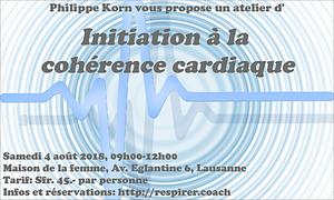 Initiation à la cohérence cardiaque, 4 août, Lausanne