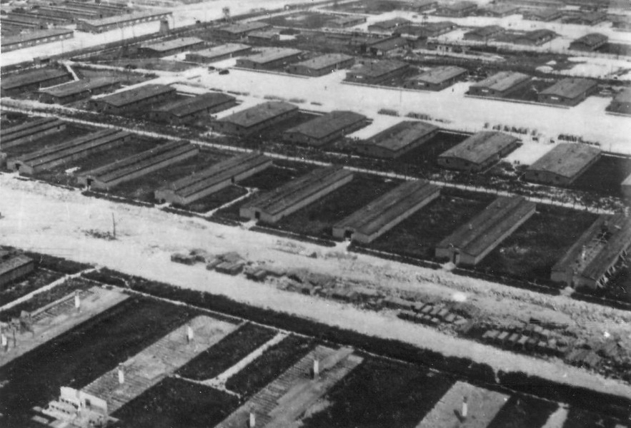 Aerial reconnaissance photograph of Majdanek Concentration Camp, Lublin, Poland, 24 Jun 1944