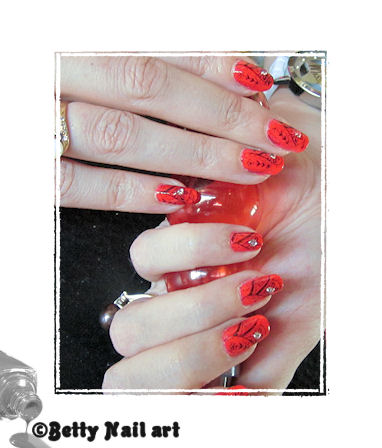 Stamping sur orange sanguine