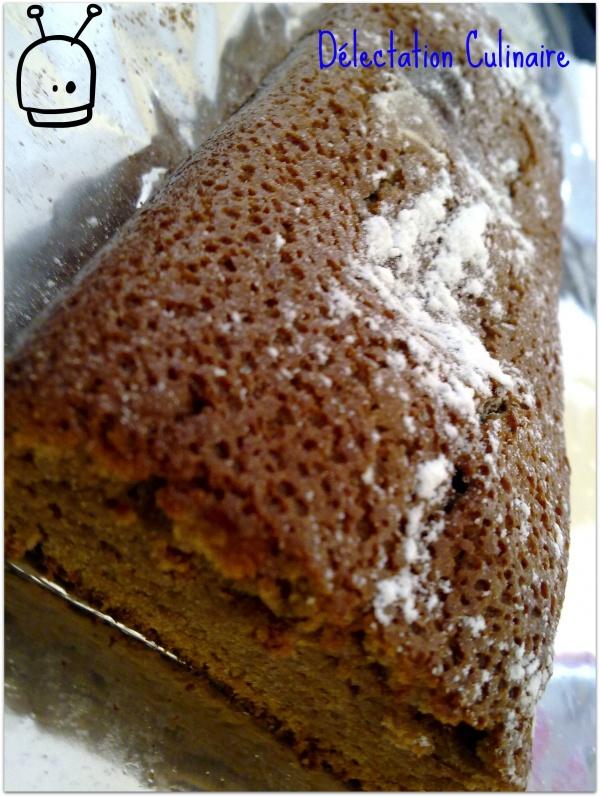 Cake croustillant et fondant au chocolat praliné