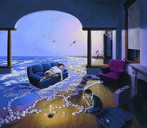 Peintre illusioniste ROB GONSALVES   -3-