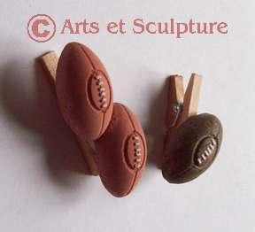 mini-pinces personnalisées rugby- Arts et Sculpture: sculpteur, artisan d'art