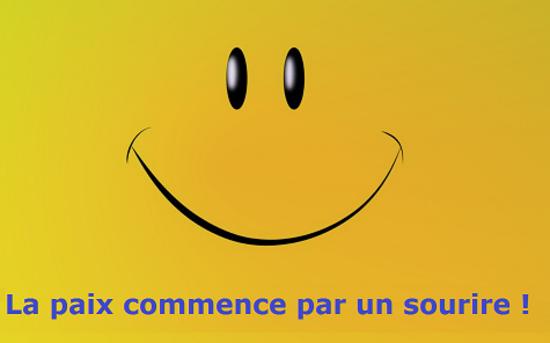 la paix commence par un sourire