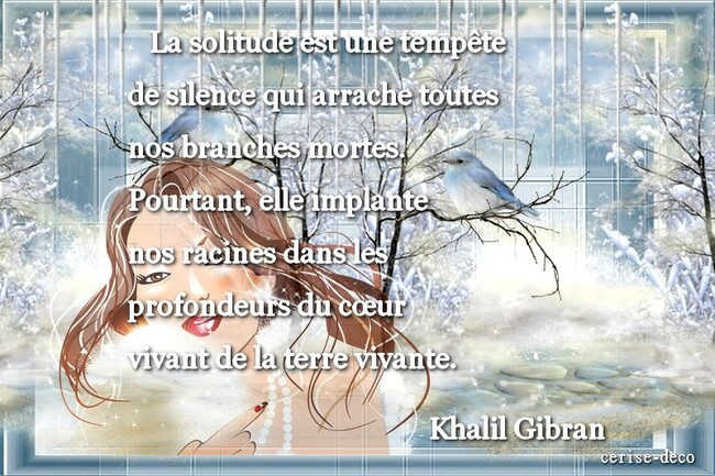 citation illustrée : la solitude