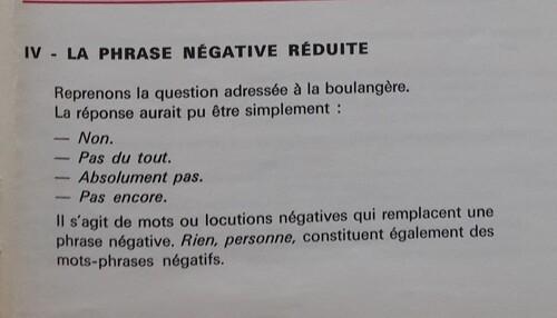 C / La négation et la phrase négative