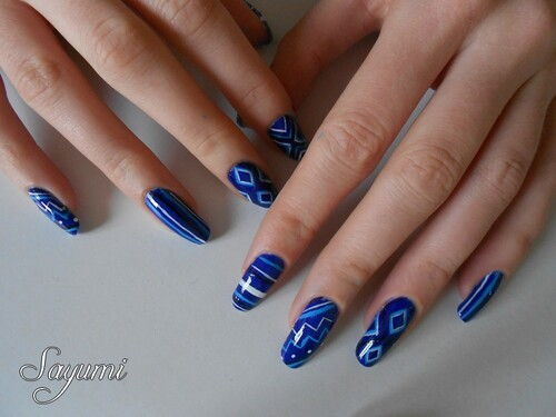 Nail Art Géométrie Abstrait 2