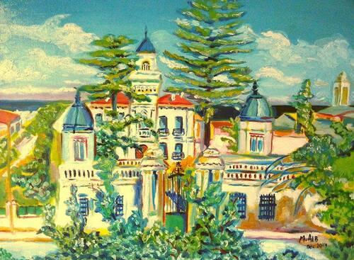 Residence Mouhoub (Bologhine ex st eugène) .Peinture à l'huile .Mohamed Aib
