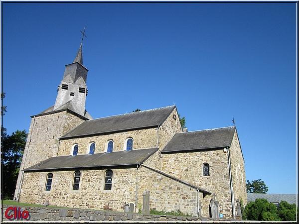 1 - L'église romane de Waha .