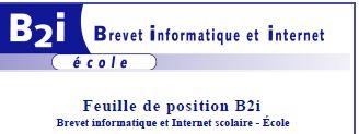 Nouveau B2i...de 2011