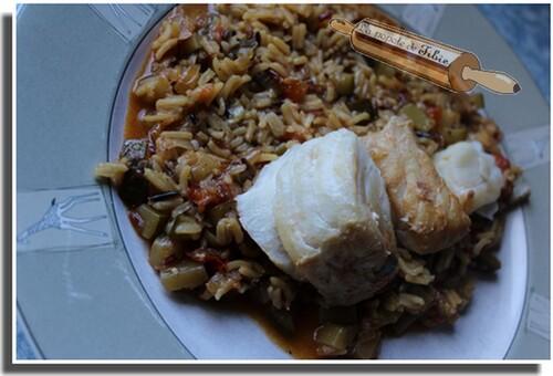 Dos de cabillaud et riz basmati au safran (cookéo)