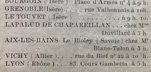 Mr Blanc-Talon à Bioley, Lecture de l'Enseignement (Unitif 1914)