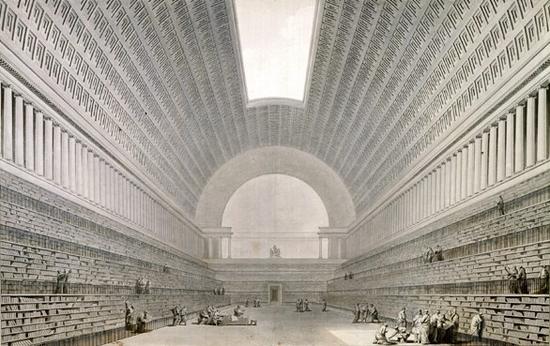 Etienne-Louis Boullée (projet pour une bibliothèque nationale)