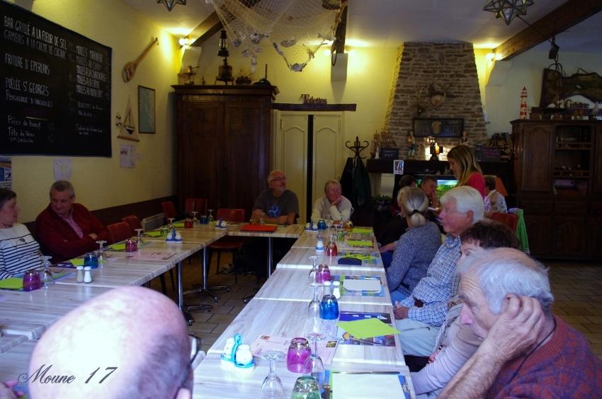 """Repas de l'association des """"Cabots d 'Oléron """"    dimanche 13 octobre 2013"""