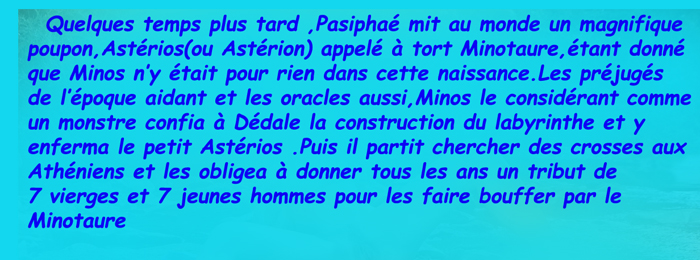 Minotaure/Cnossos/labyrinthe