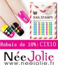 Stamping estival rose et blanc