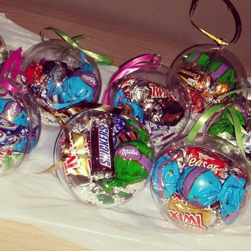 boules de noël aux chocolats