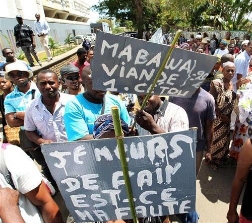 Mayotte :  Grève contre la vie chère