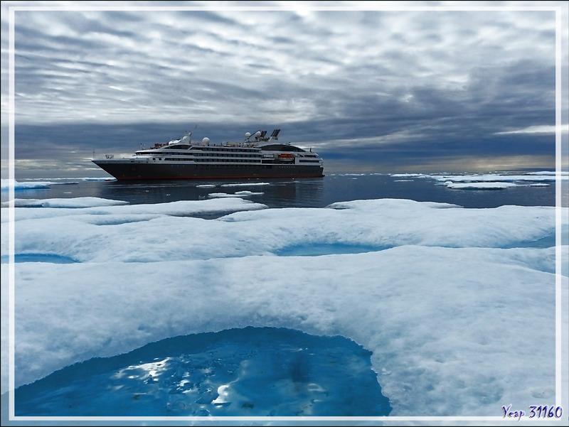 Faute de banquise nous avons quand même mis les pieds sur un de ses vestiges - Mer de Beaufort - Nunavut - Canada