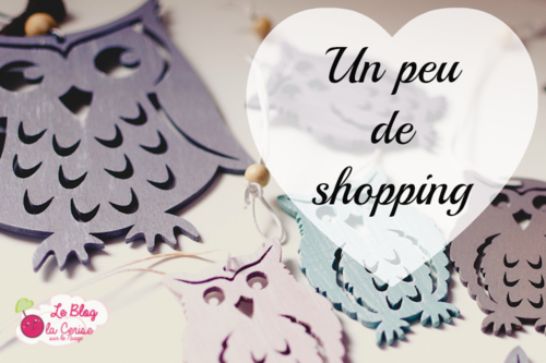 Un peu de shopping