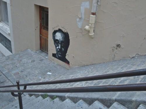 Pitr Jean-Luc Godard Montmartre street-art