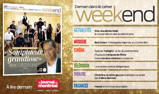 Cahier Weeekend du Journal de Montréal