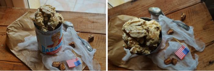 Glace au beurre de cacahuètes et chocolat au beurre de cacahuètes milka®