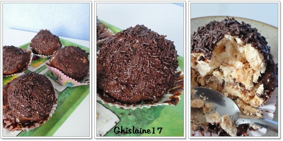 Boule meringuée au chocolat ou L\u0027Othello (anciennement Tête de nègre) ,  Ghislaine Cuisine