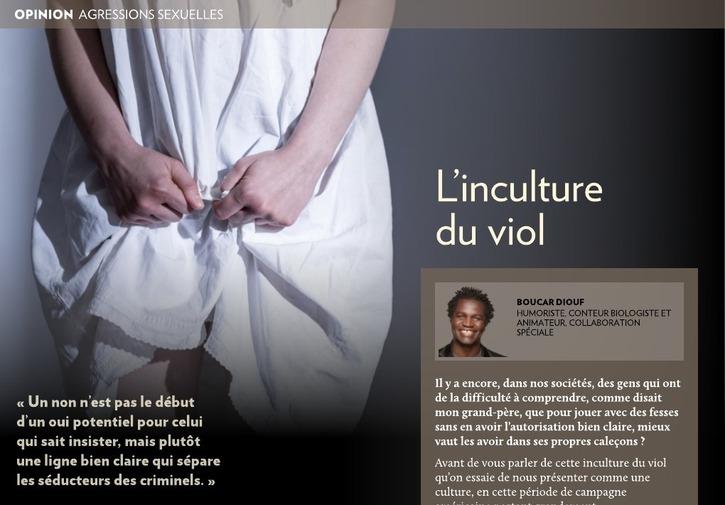 Société 2:  L'INCULTURE DU VIOL