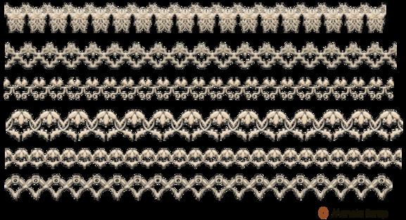 Fine bandes de dentelles
