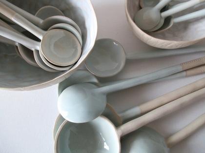 bols et cuillères céramique Véronique Grandjacques