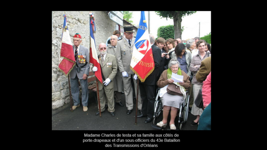 Faire-part de décès de Madame Monique de Testa,veuve de Bernard de Testa (1er RA)