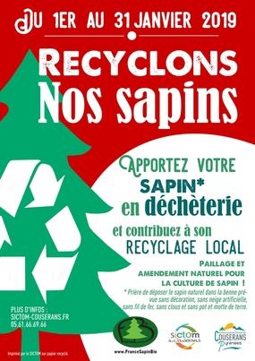Du 1er au 31 janvier 2019 - Recyclage des sapins