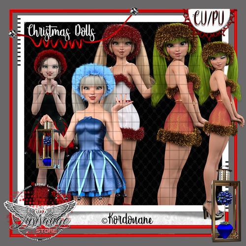 Christmas Dolls - Poupées de Noël (tubes-png)
