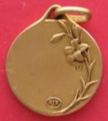 Medaille   Vierge revers