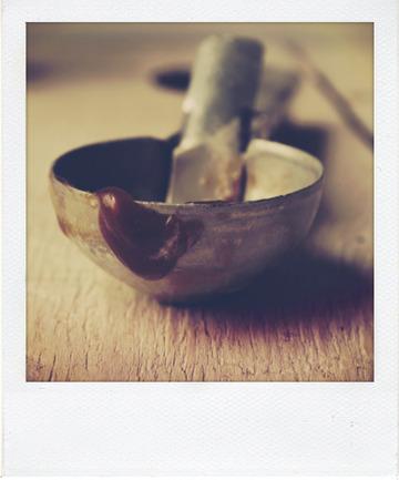 Crème glacée à la vanille marbrée au caramel beurre salé