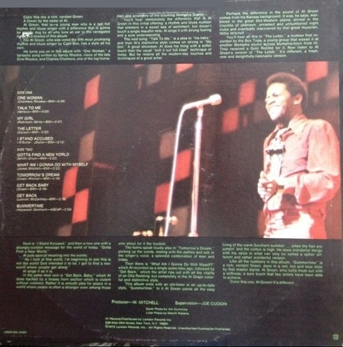"1969 : Al Green : Album "" Green Is Blues "" Hi Records SHL 32055 [ US ]"