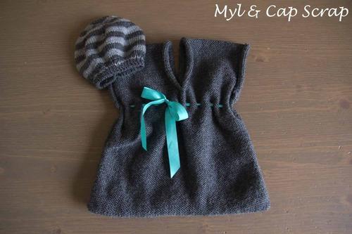 Mylène - Tricot : Ensemble robe-béret
