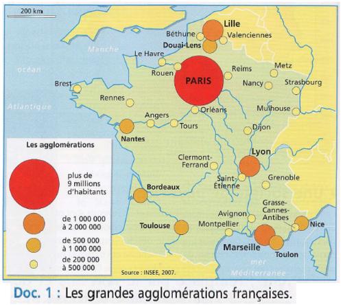 Les grandes villes de France