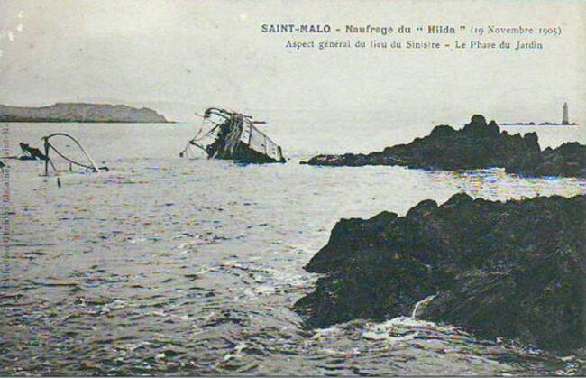 Le naufrage du Hilda ... !!!