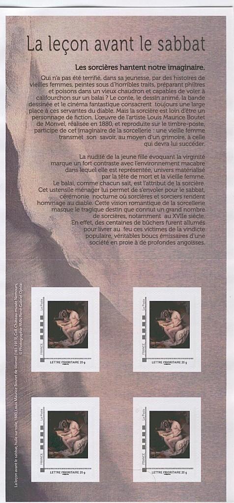 carnet 4 timbres les sorcières 2012