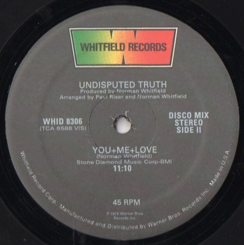 1976 : Single 12 Inch Whitfield Records WHID 8306 [ US ]